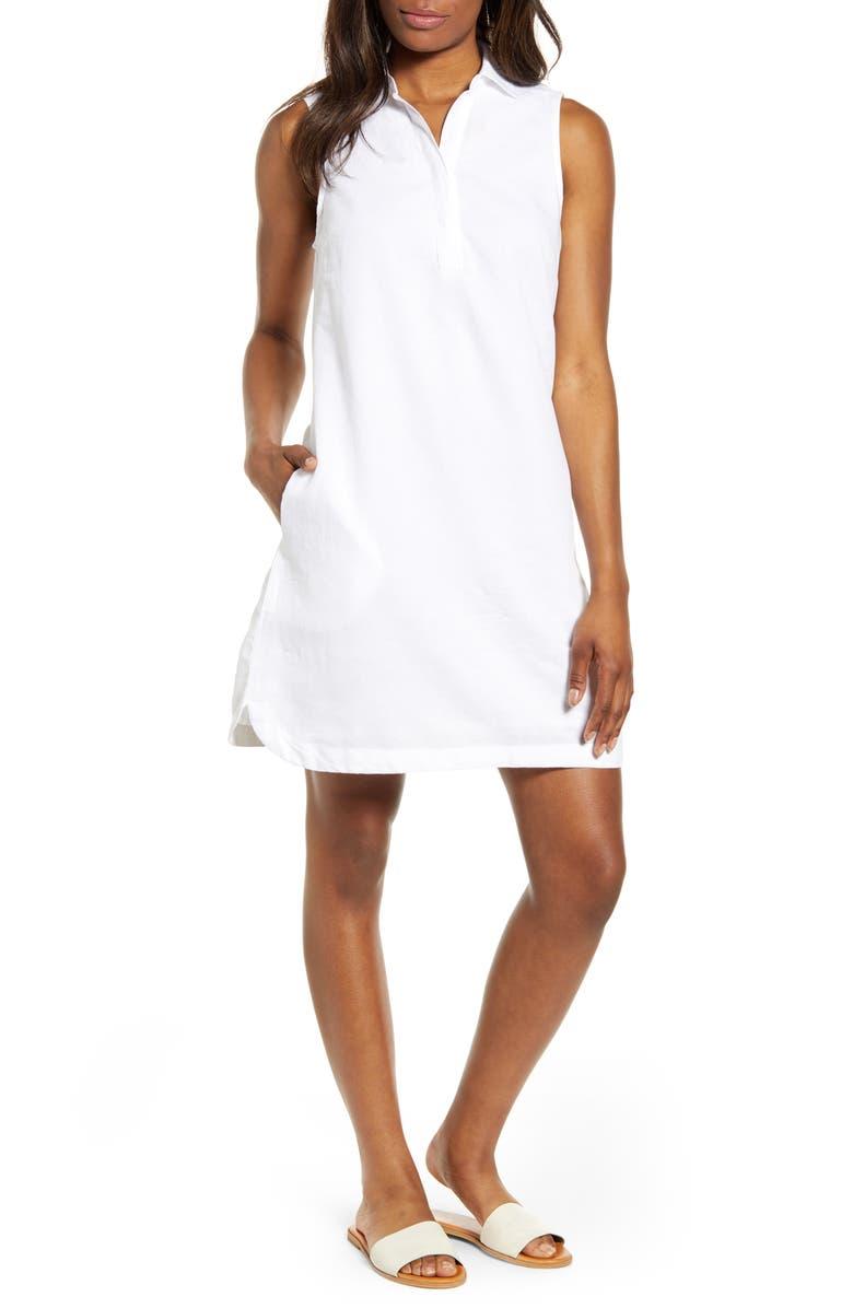 73e26d7d59 beachlunchlounge Leandrina Polo Collar Linen & Cotton Shift Dress ...