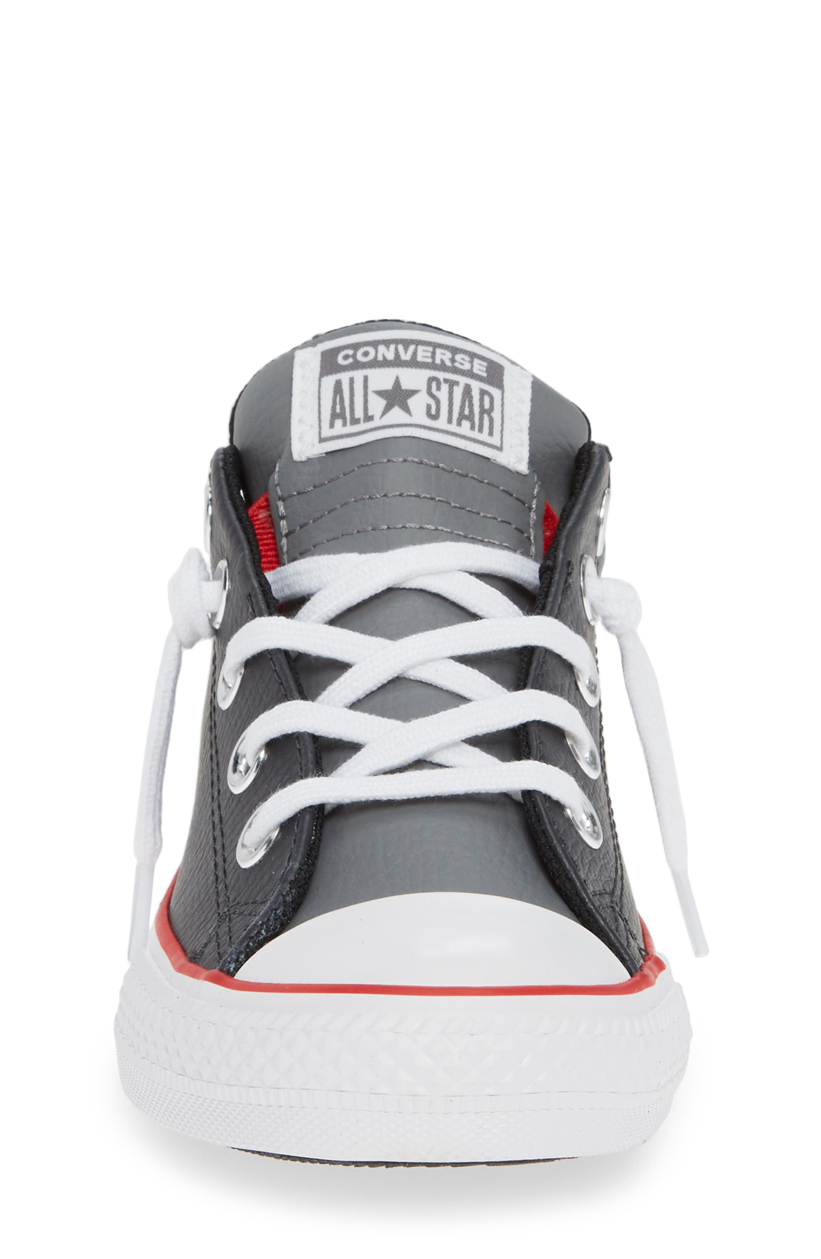 ,                             Chuck Taylor<sup>®</sup> All Star<sup>®</sup> Collegiate Street Leather Slip-On Sneaker,                             Alternate thumbnail 4, color,                             001