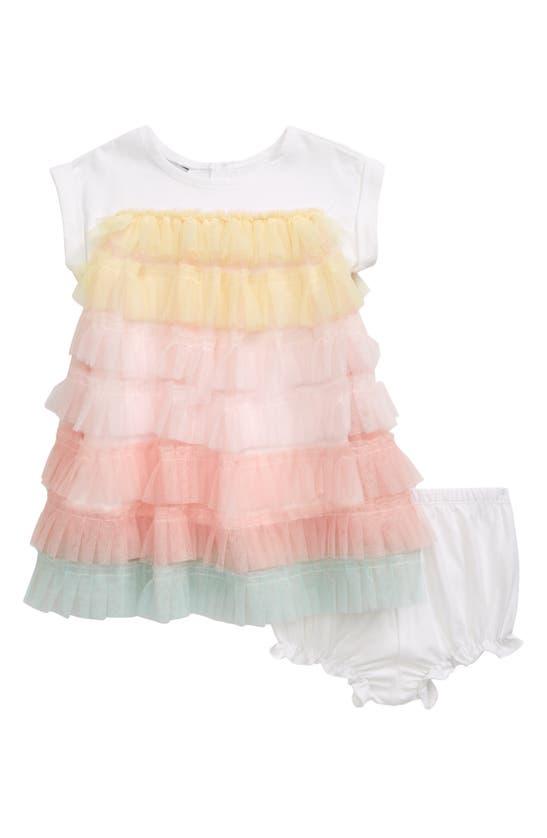 Pippa & Julie Cottons MESH TIER T-SHIRT DRESS