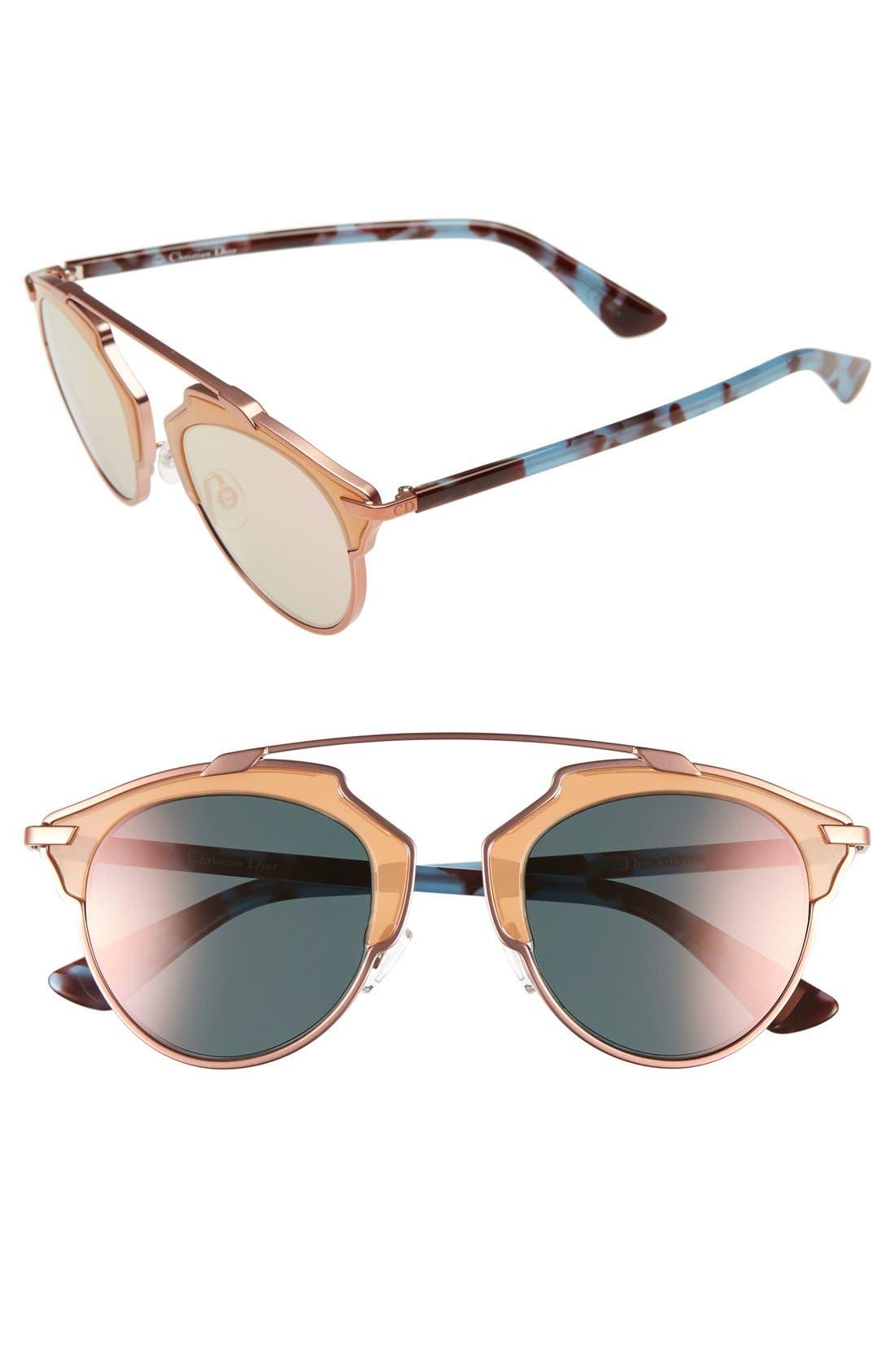 ,                             So Real 48mm Brow Bar Sunglasses,                             Main thumbnail 63, color,                             651