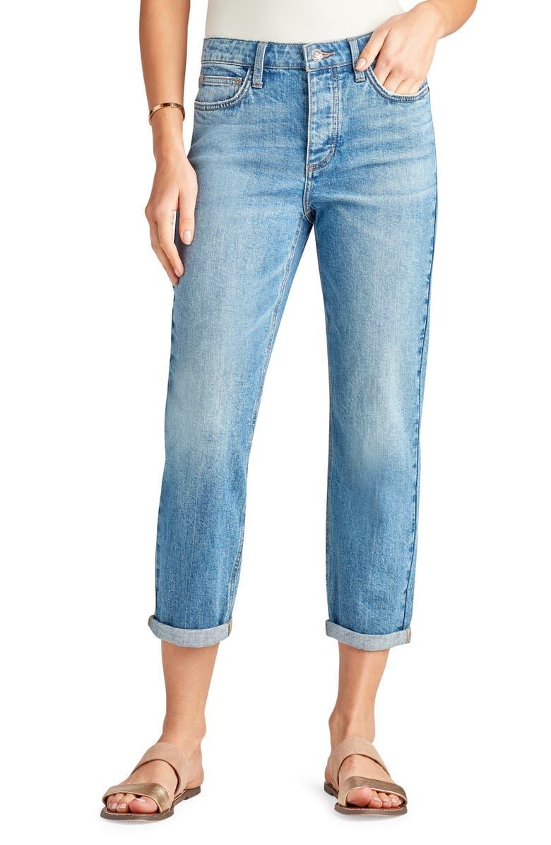 SAM EDELMAN The Mary Jane Boyfriend Rolled Cuff Jeans, Main, color, ZARIYAH