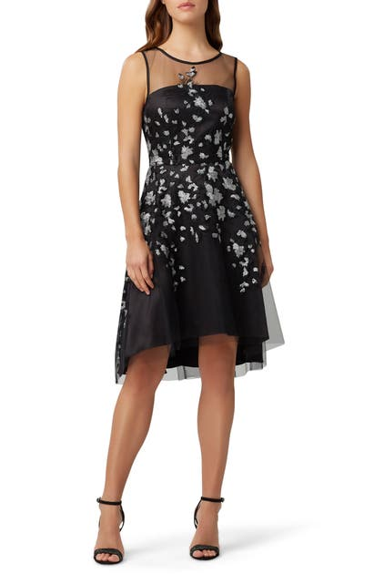 Tahari Dresses SLEEVELESS SEQUIN EMBROIDERED FIT & FLARE DRESS