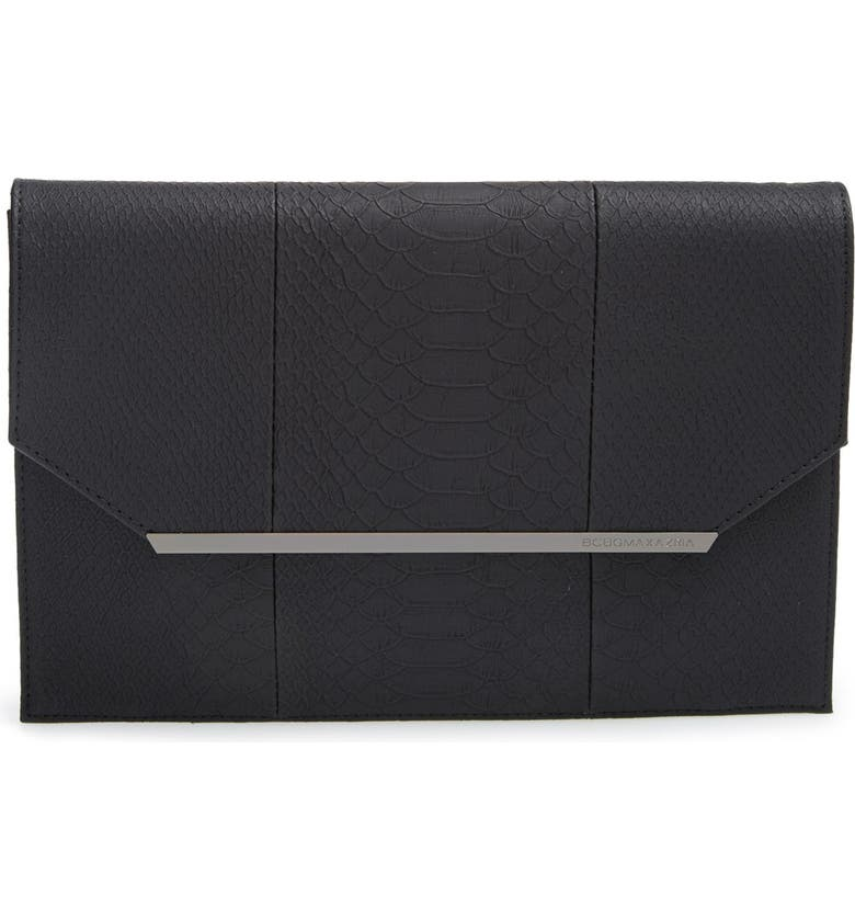BCBGMAXAZRIA 'Kelly' Envelope Clutch, Main, color, 001