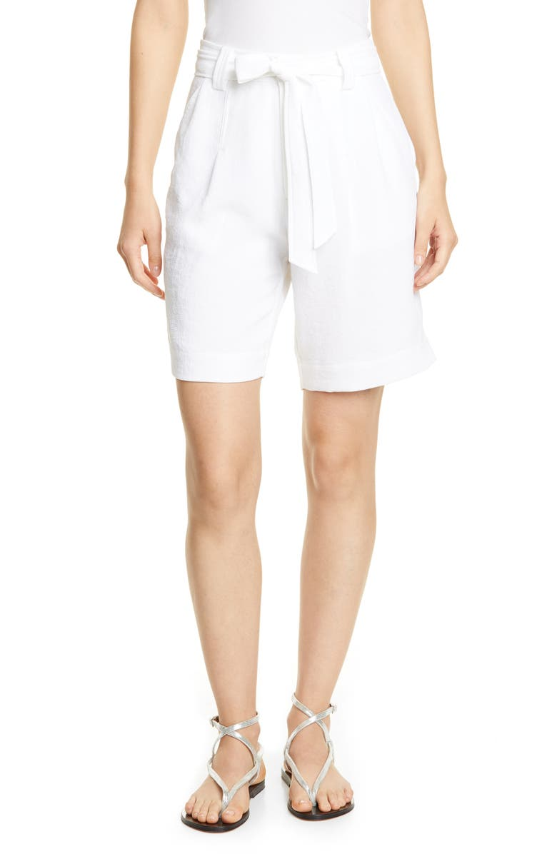 BROCHU WALKER Verna Bermuda Shorts, Main, color, SALT WHITE