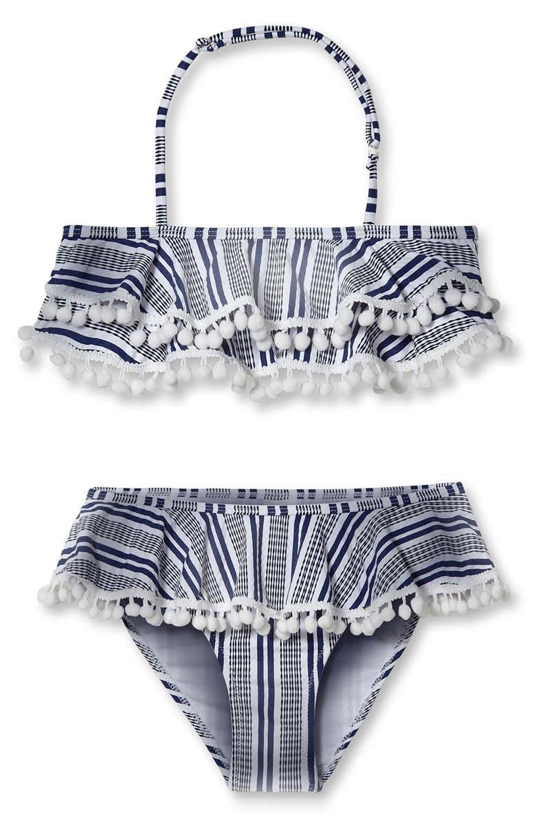 STELLA COVE Stripe Halter Two-Piece Swimsuit, Main, color, 650