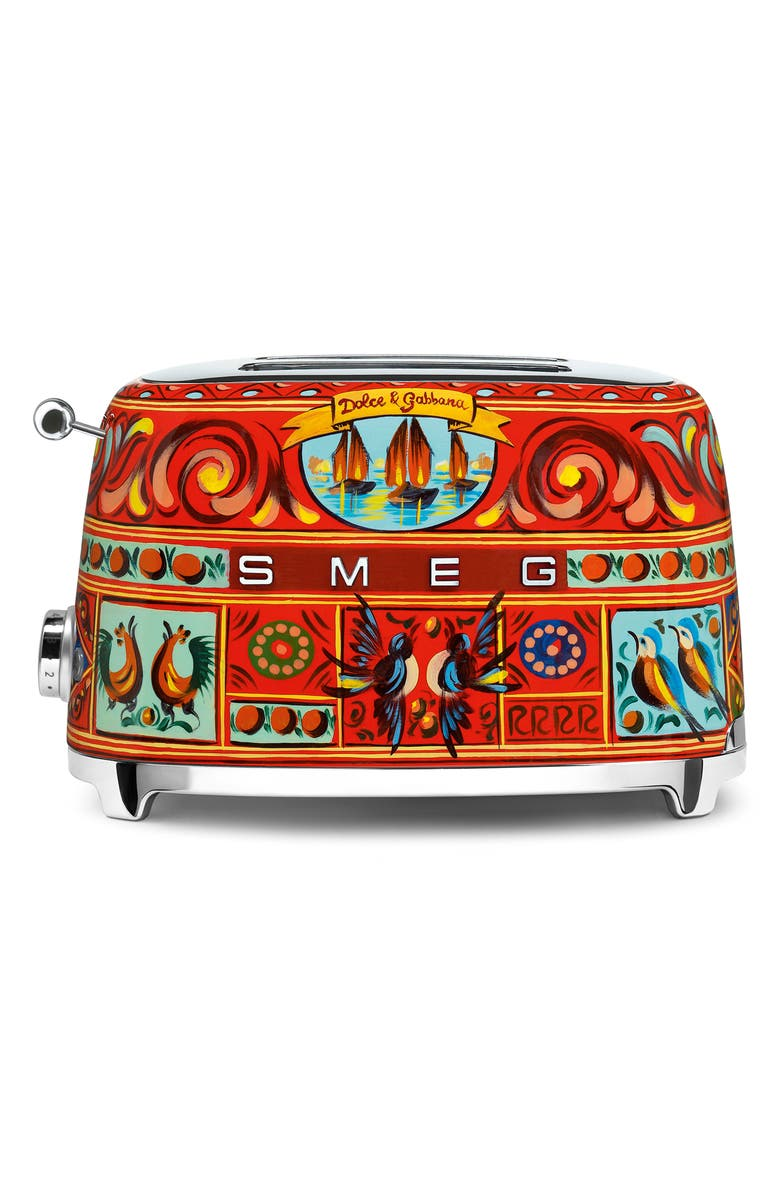 SMEG x Dolce&Gabbana Sicily Is My Love Two-Slice Toaster, Main, color, DG