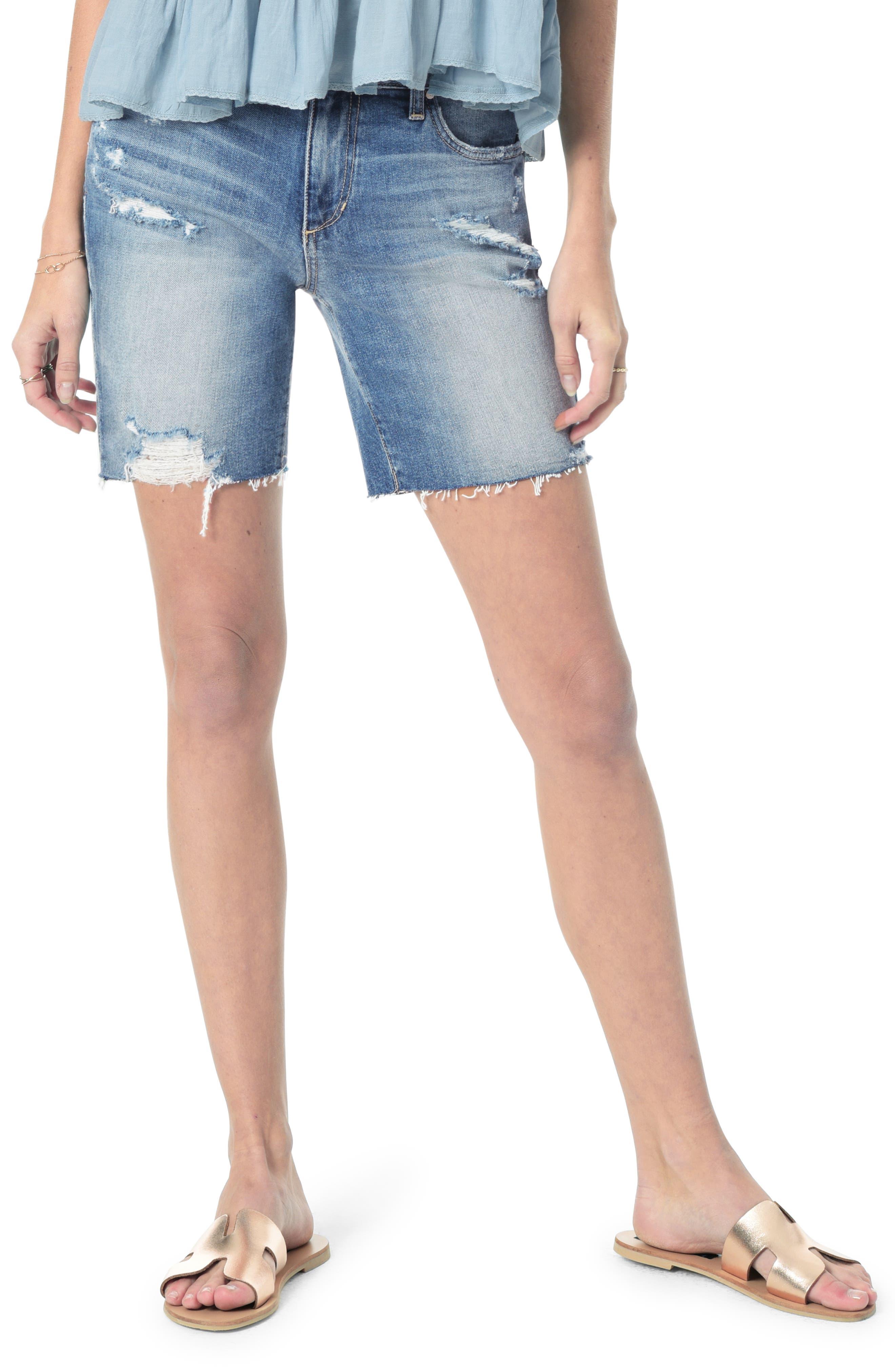 Cutoff Bermuda Shorts, Main, color, FARREN