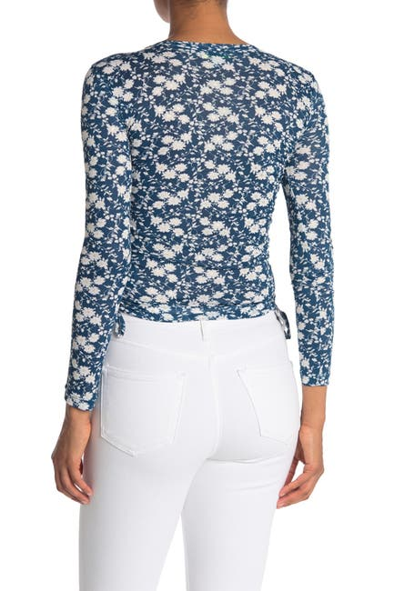 Image of GOOD LUCK GEM Ditsy Floral Cinch Side Long Sleeve Top