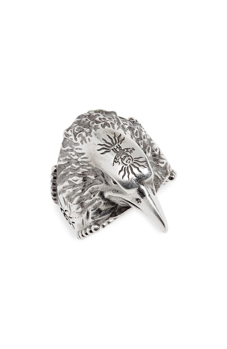 GUCCI Eagle Ring, Main, color, SILVER