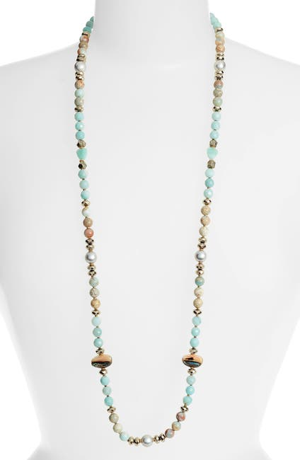 Image of Chan Luu 18k Gold Plated Sterling Silver Semi-Precious Stone Beaded Necklace