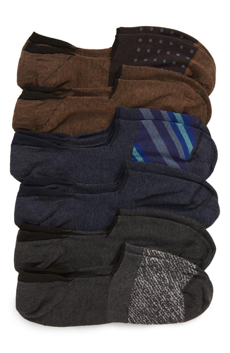 NORDSTROM MEN'S SHOP 6-Pack Liner Socks, Main, color, NAVY/ GREY/ BLUE