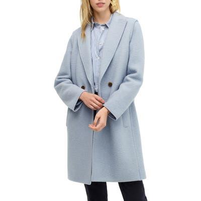 J.crew Daphne Boiled Wool Topcoat, Blue