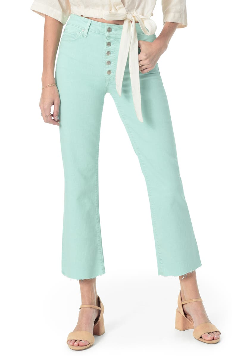 JOE'S Wyatt Button Fly High Waist Raw Hem Crop Flare Jeans, Main, color, 330