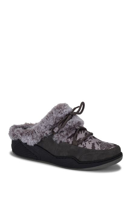 Image of BareTraps Landon Faux Shearling Lined Clog Slipper