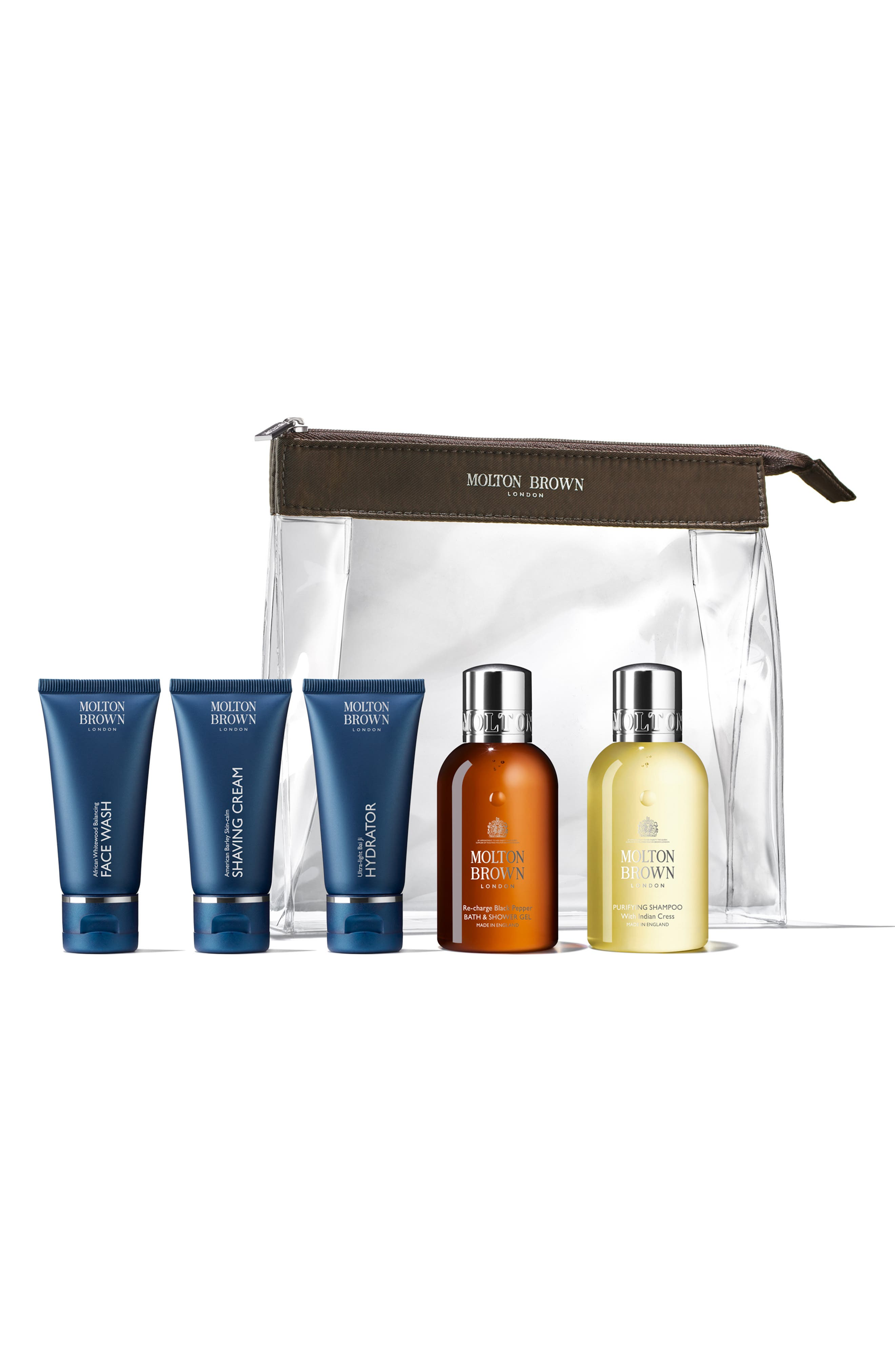 The Well-Groomed Traveler Skin & Hair Care Set
