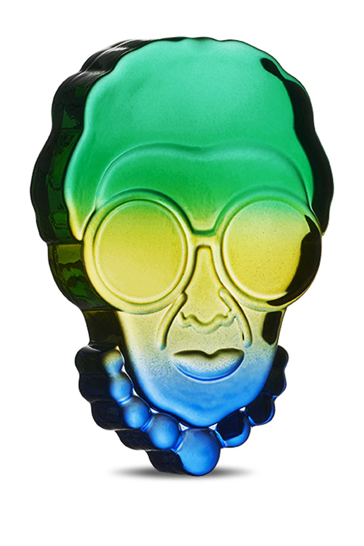 Image of Nude Glass Iris Paperweight - Blue Green