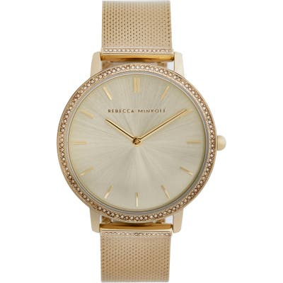Rebecca Minkoff Major Pave Mesh Strap Watch, 35mm