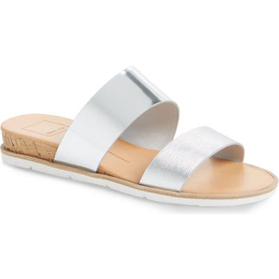 Dolce Vita Vala Wedge Slide Sandal- Metallic