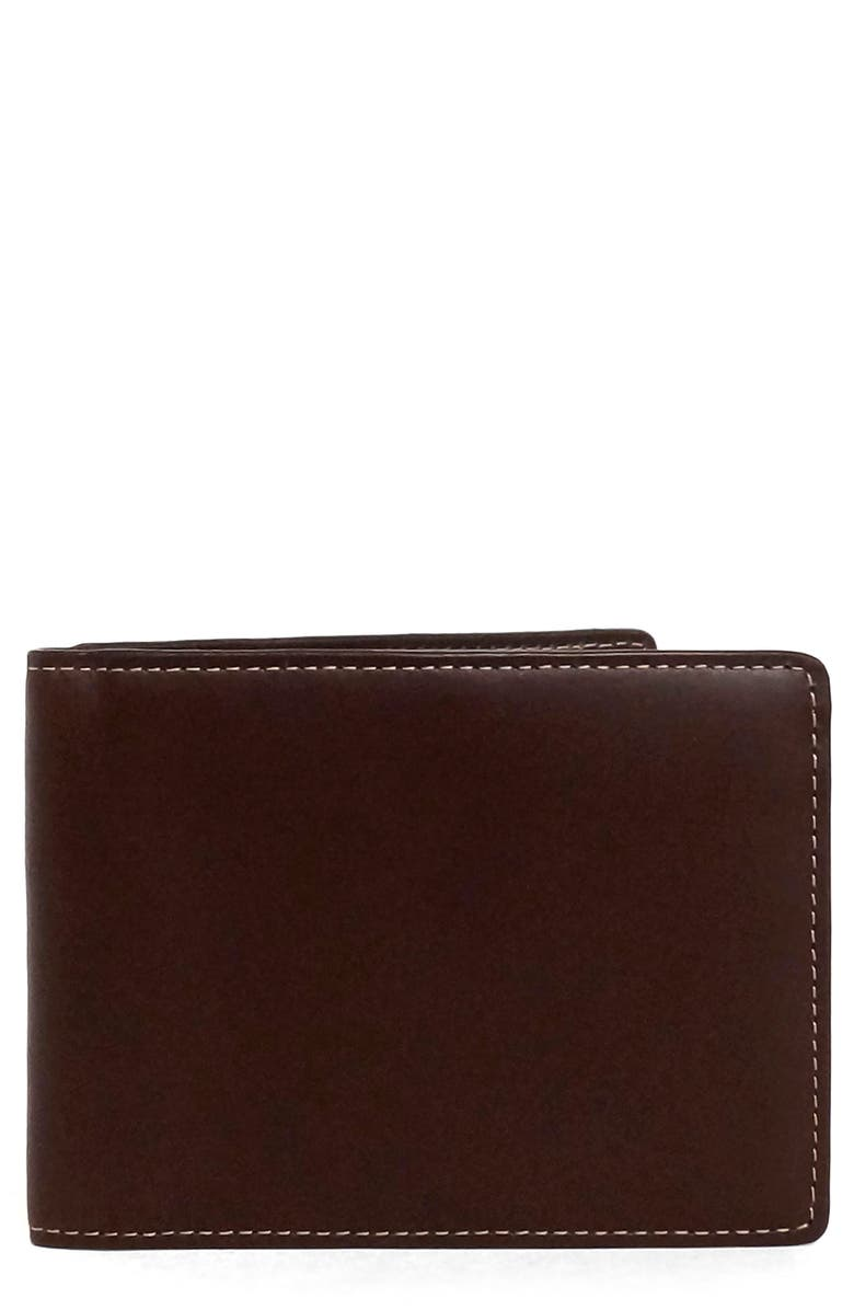 BOCONI Bryant Leather Wallet, Main, color, MAHOGANY