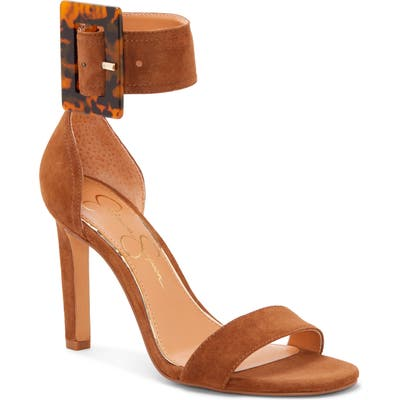 Jessica Simpson Caytie Ankle Strap Sandal, Brown