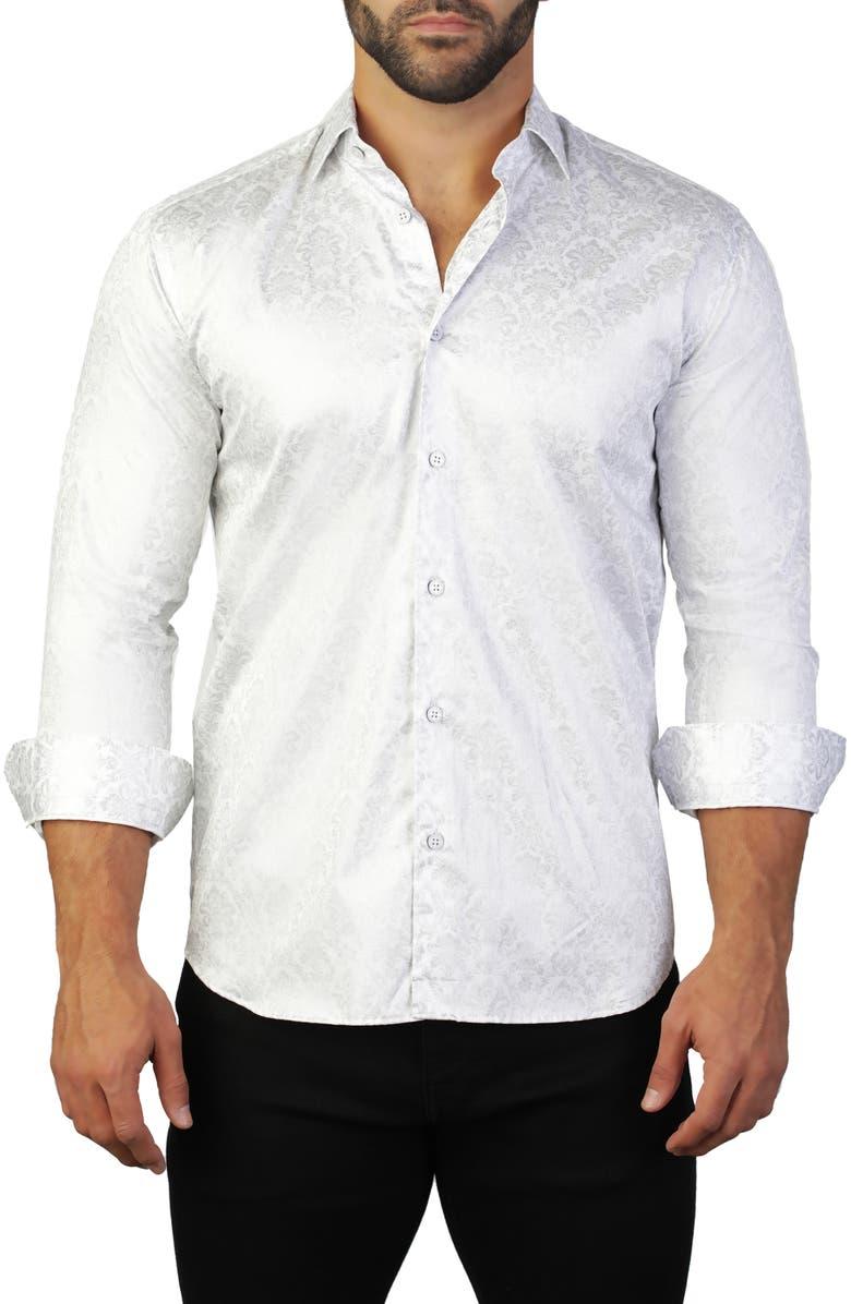 MACEOO Fibonacci Regular Fit Queen Print Sport Shirt, Main, color, 110
