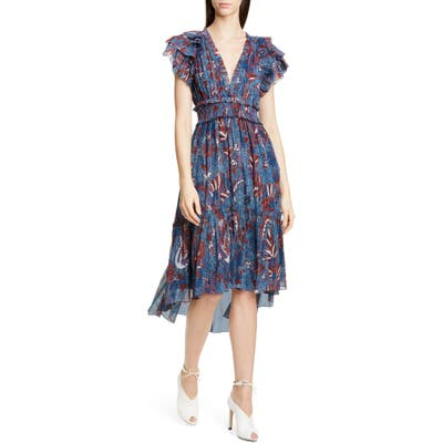 Ulla Johnson Cicely Silk Blend High/low Dress
