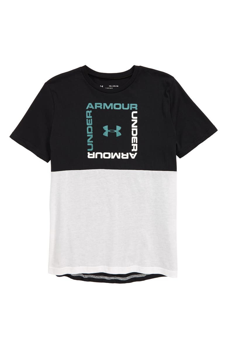 UNDER ARMOUR Sportstyle HeatGear<sup>®</sup> Graphic T-Shirt, Main, color, BLACK/ WHITE