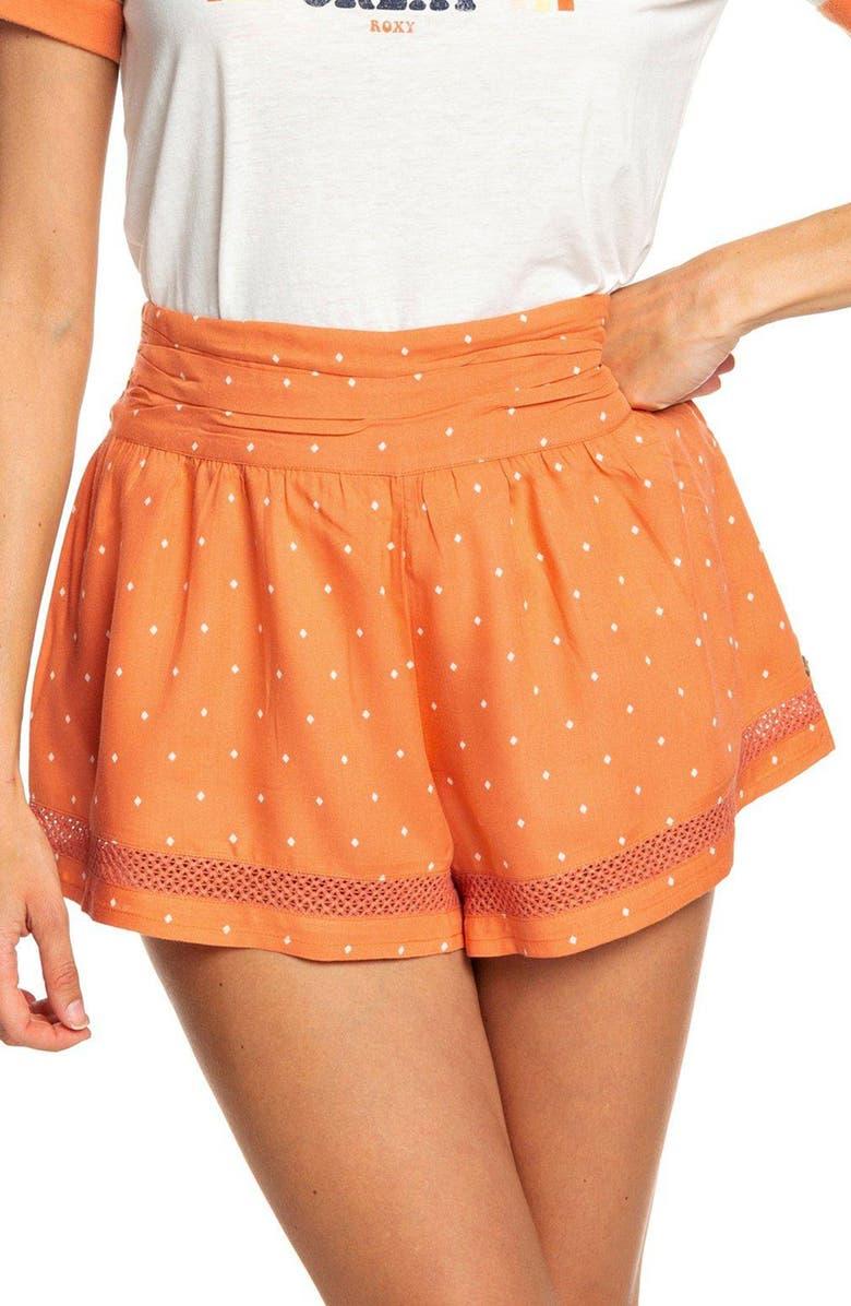 Roxy Boho Dreams High Waist Cotton Shorts Nordstrom