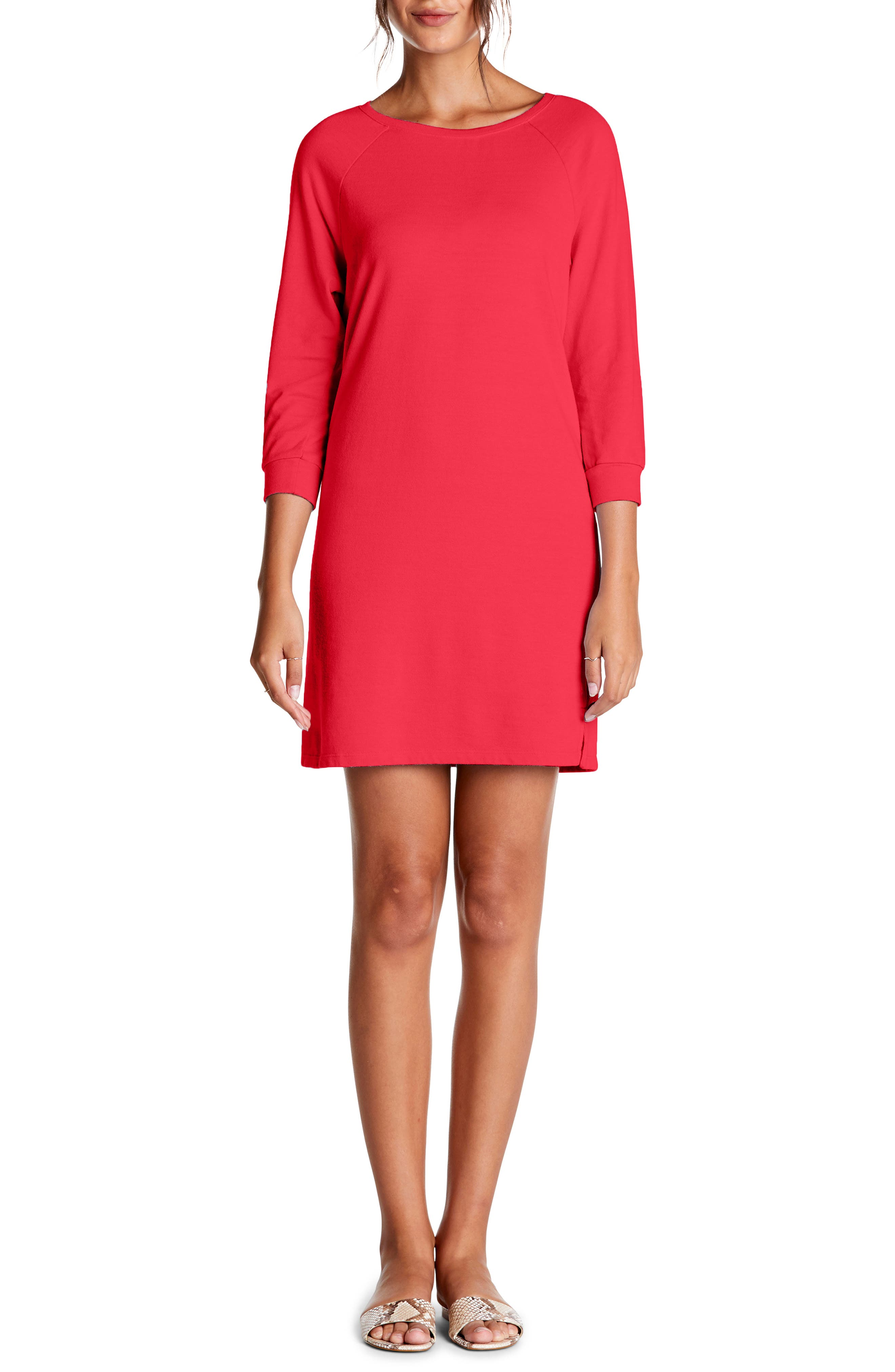 Michael Stars Sweatshirt Dress, Red