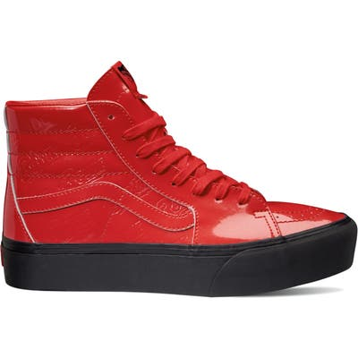Vans X David Bowie Sk8-Hi Platform Sneaker, Red