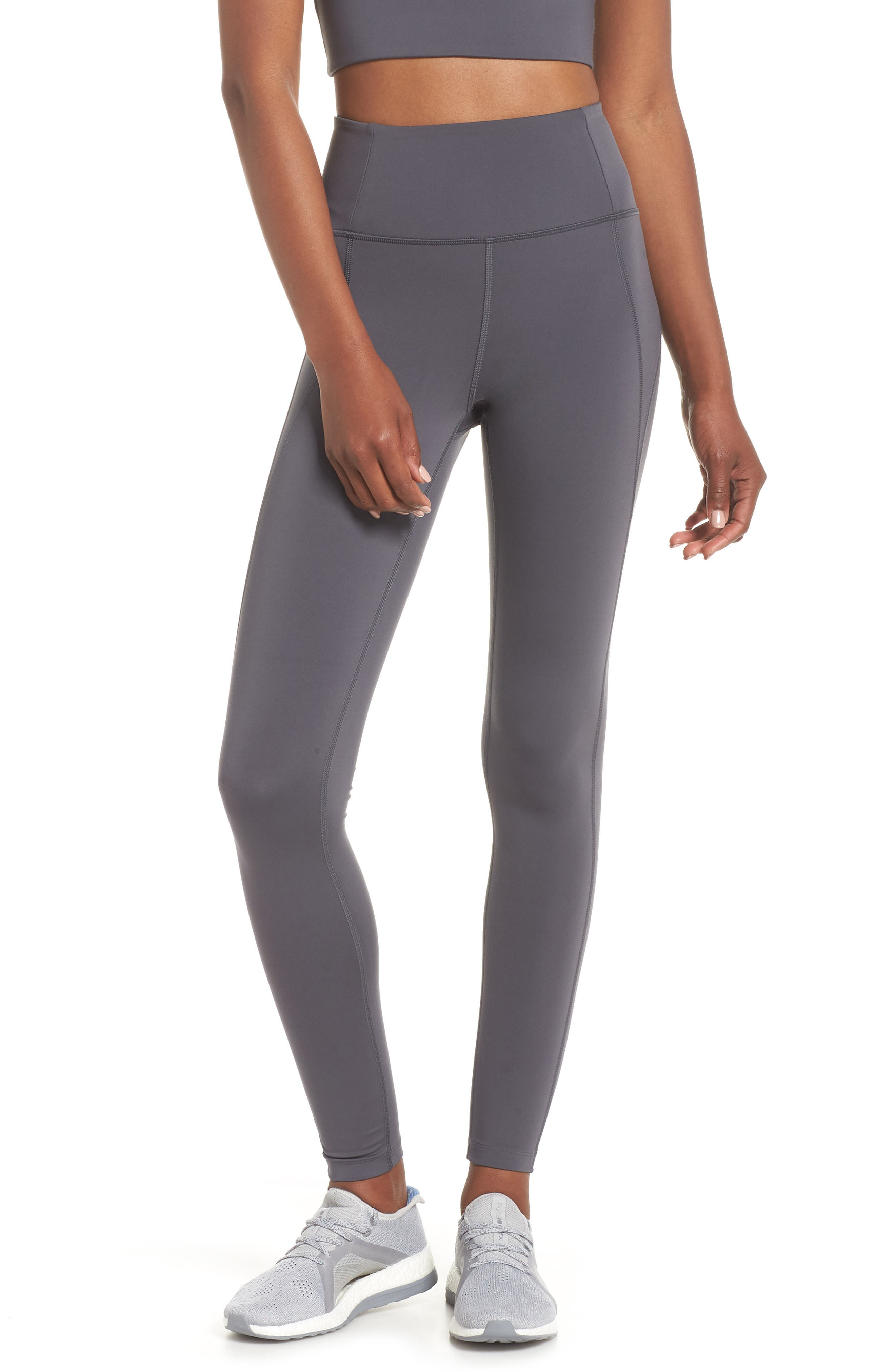 Girlfriend Collective High Waist Full Length Leggings, Grey