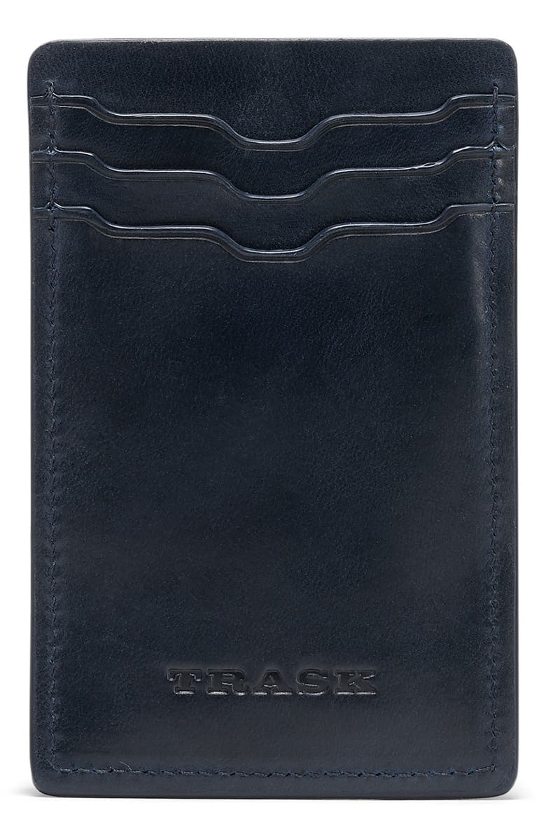 TRASK Sutton Front Pocket Wallet, Main, color, NAVY