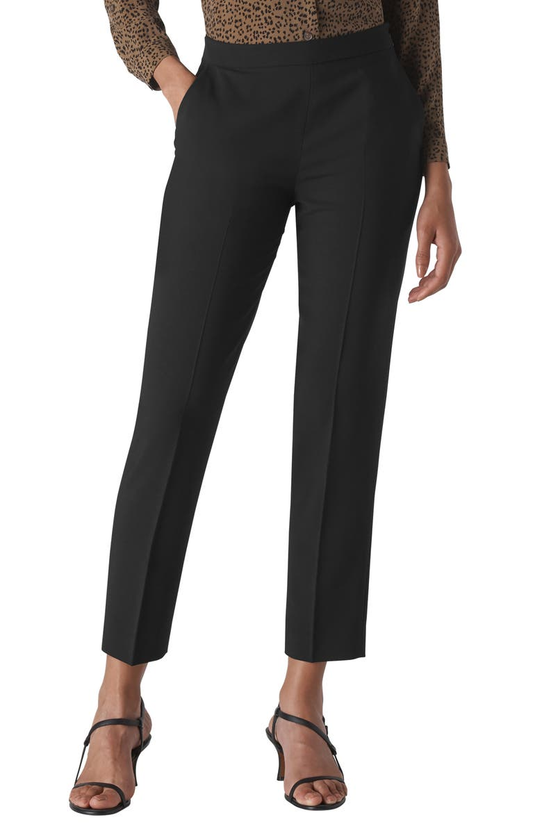 WHISTLES Anna Trousers, Main, color, BLACK