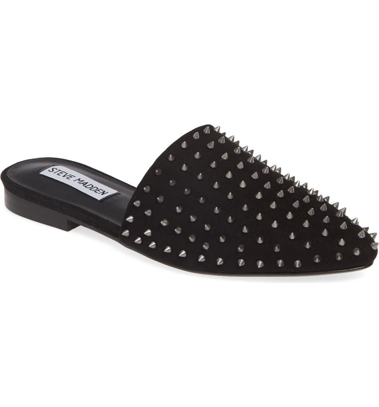 STEVE MADDEN Tanner Studded Mule, Main, color, BLACK MULTI