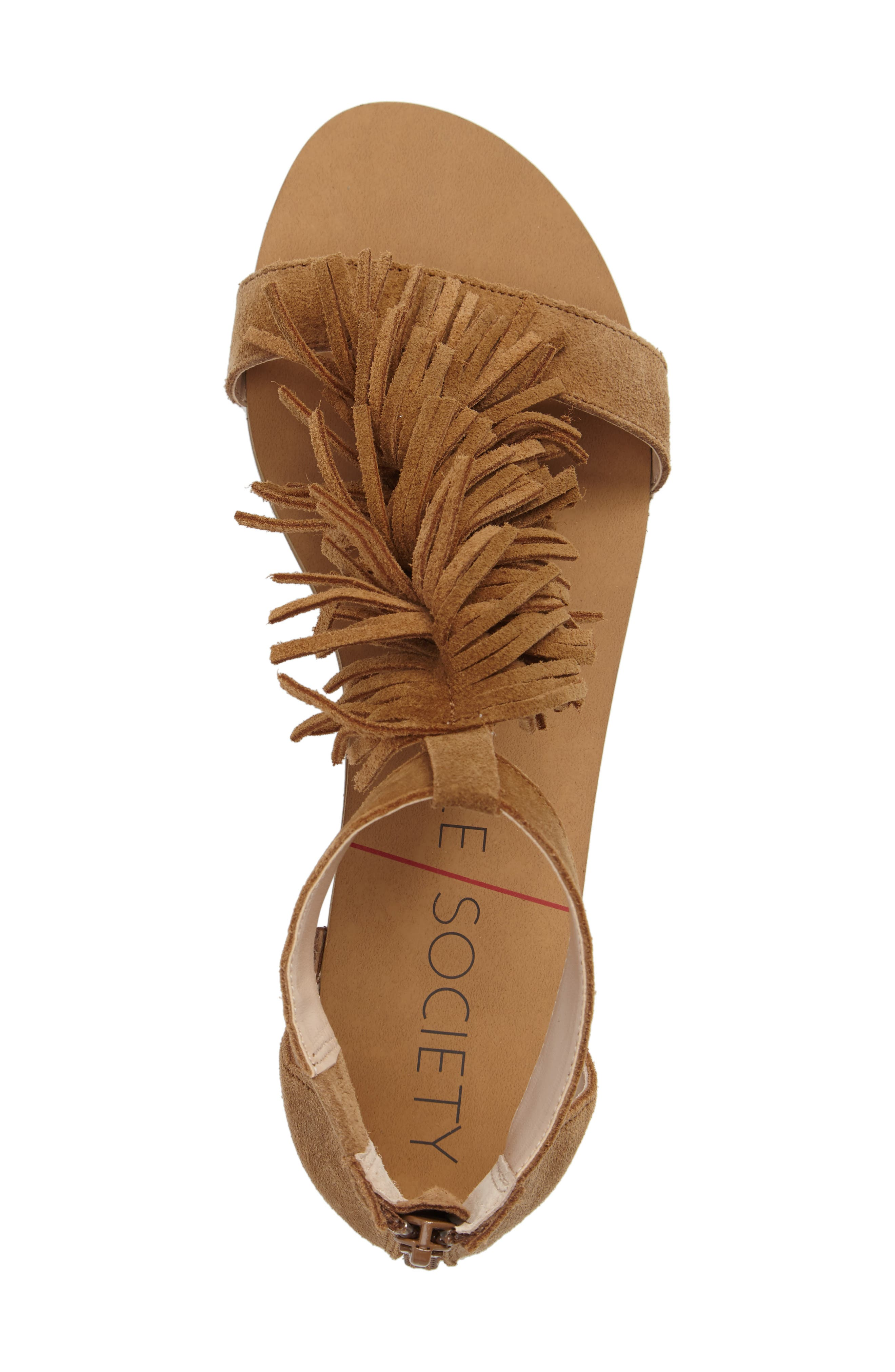 ,                             Koa Fringed T-Strap Sandal,                             Alternate thumbnail 11, color,                             240