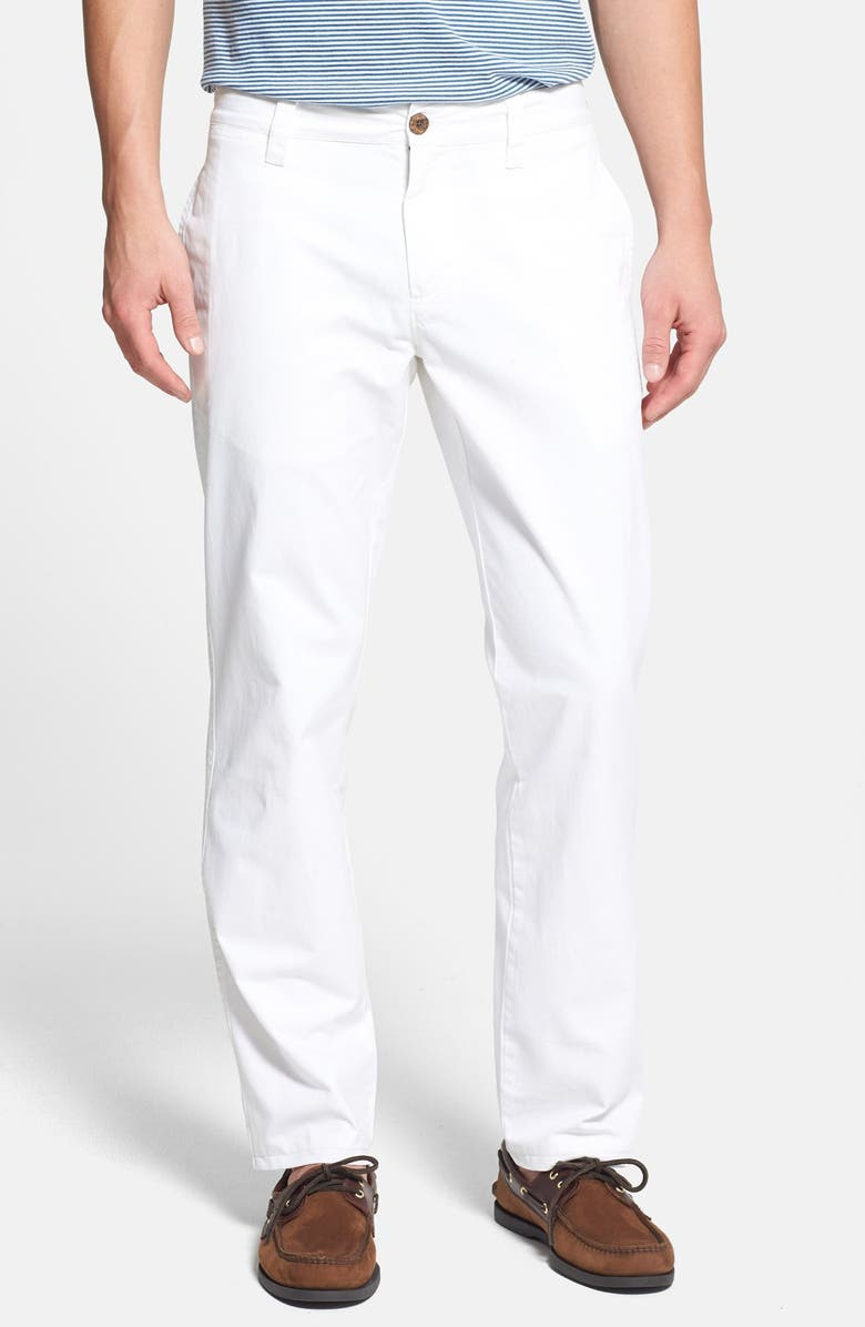 TAILOR VINTAGE Classic Fit Flat Front Chinos, Main, color, 100
