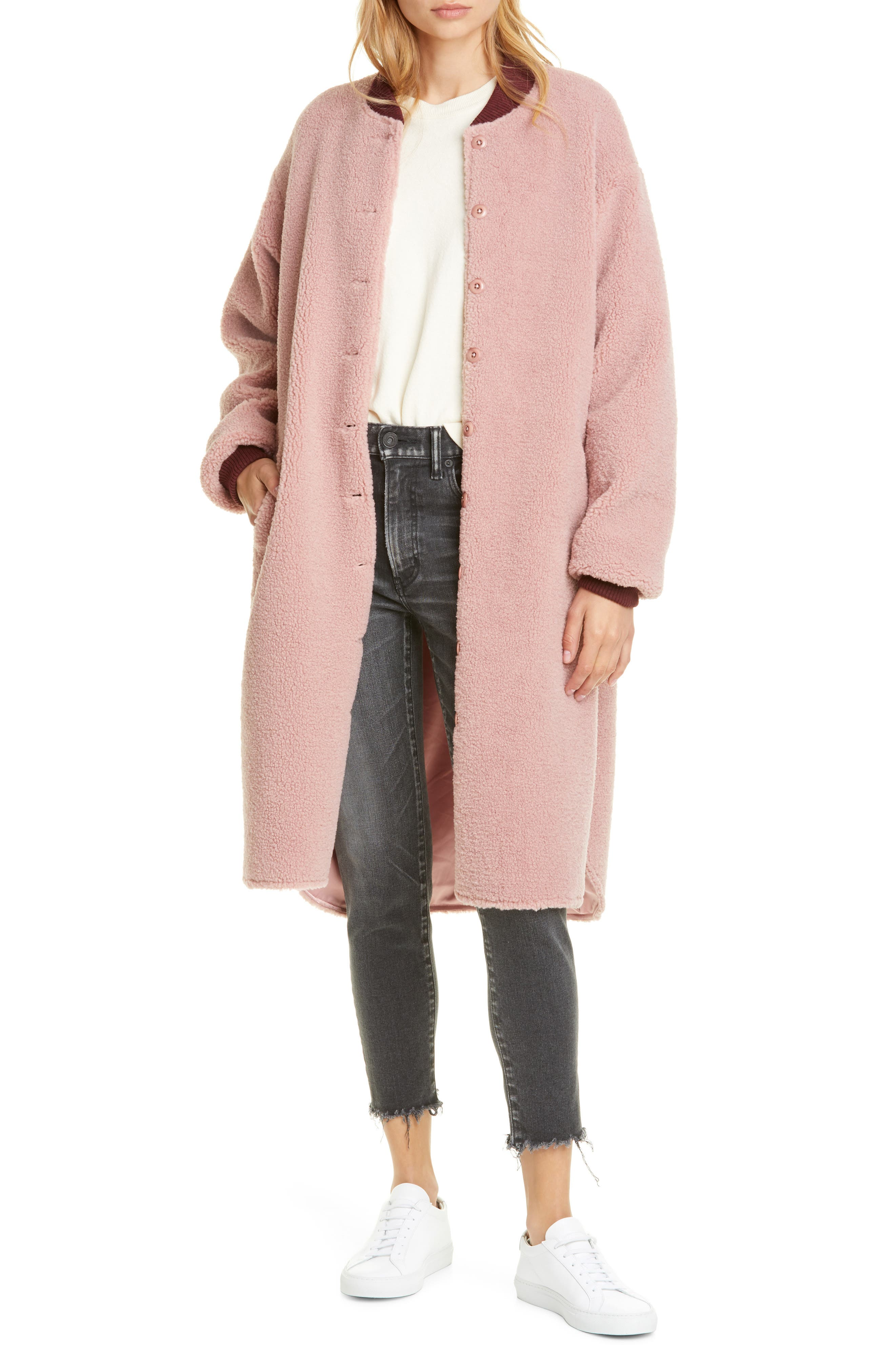 THE GREAT. Longline Bomber Coat
