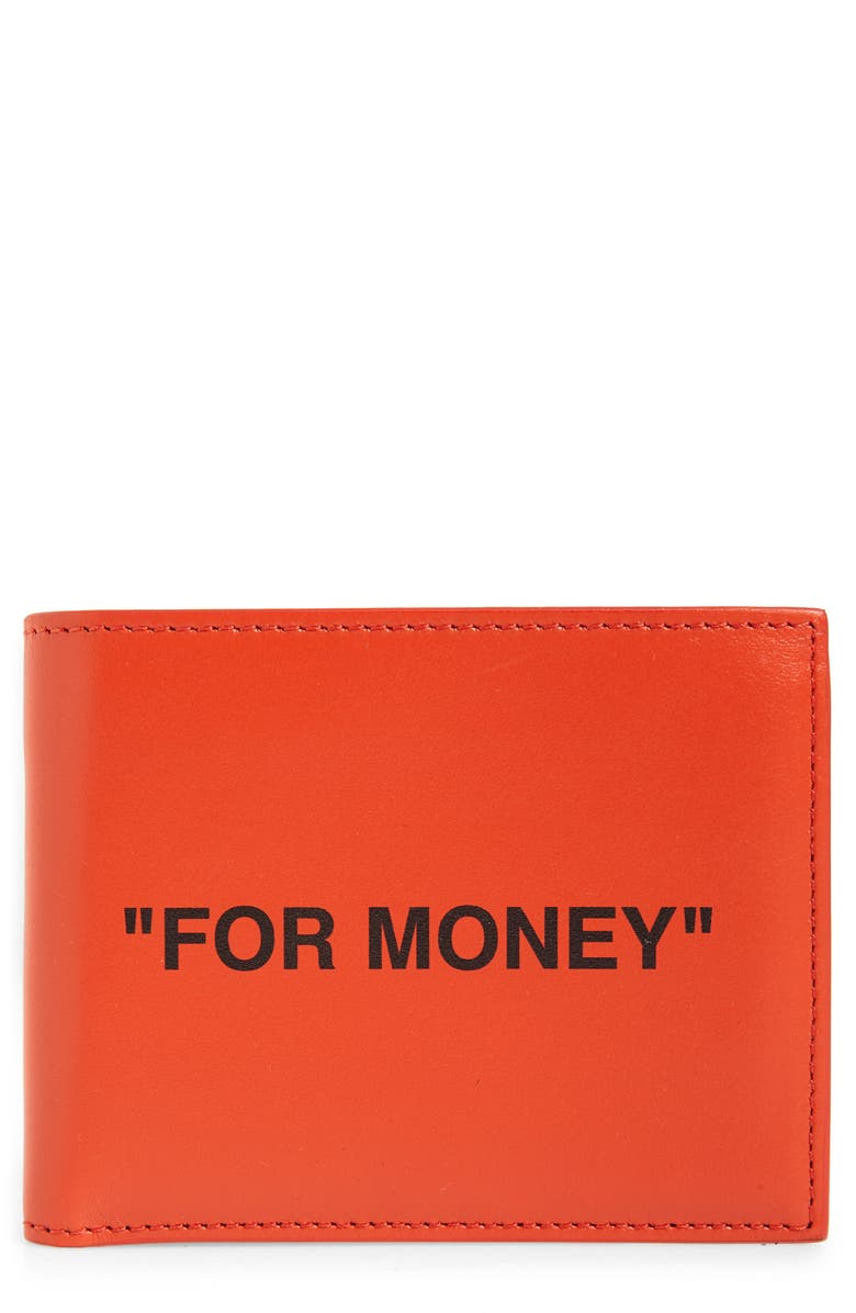 OFF-WHITE Quote Leather Wallet, Main, color, 800
