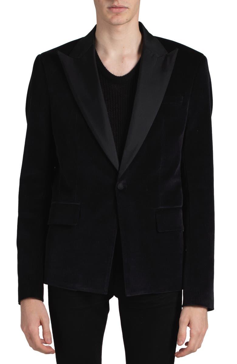 AMIRI Velvet Blazer, Main, color, BLACK