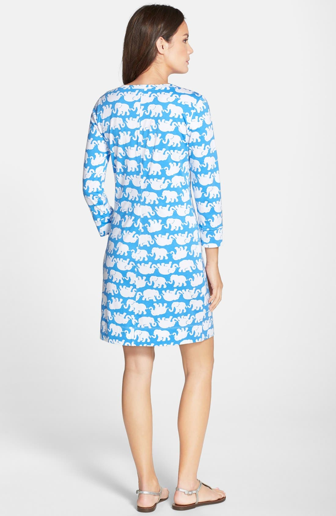 ,                             'Christie' Print T-Shirt Dress,                             Alternate thumbnail 4, color,                             421