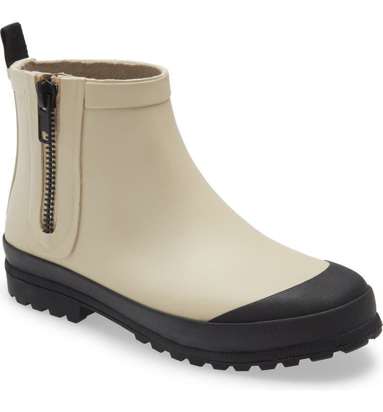 MADEWELL The Zip-Up Lugsole Rain Boot, Main, color, ASHEN SILVER