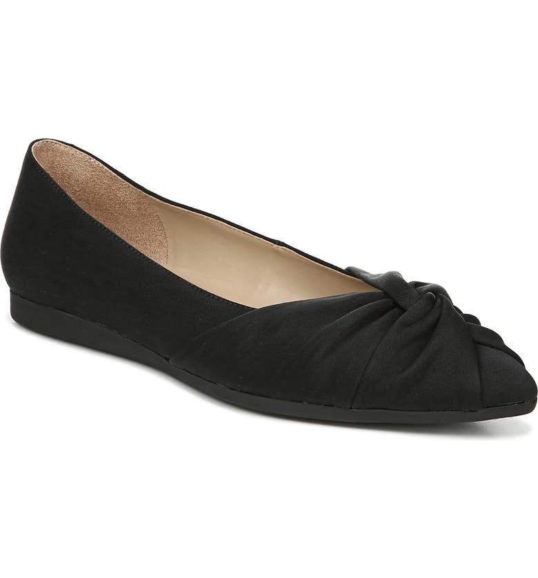 NATURALIZER Renata Flat, Main, color, BLACK SHINY FABRIC