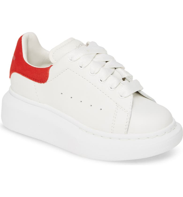 ALEXANDER MCQUEEN Oversize Sneaker, Main, color, WHITE/ LUST RED