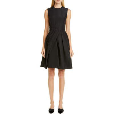 Carolina Herrera Drape Silk Dress, Black