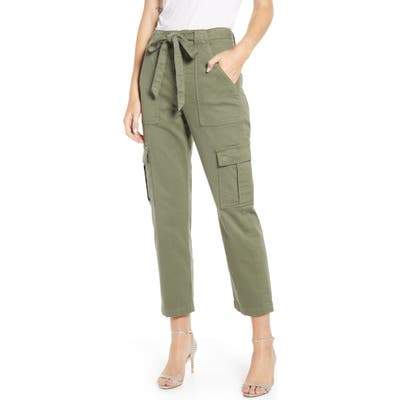 7 For All Mankind High Waist Crop Cargo Pants, Green