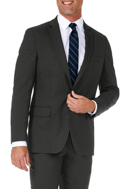 Image of HAGGAR Sharkskin Stretch Slim Fit 2-Button Suit Separate Coat