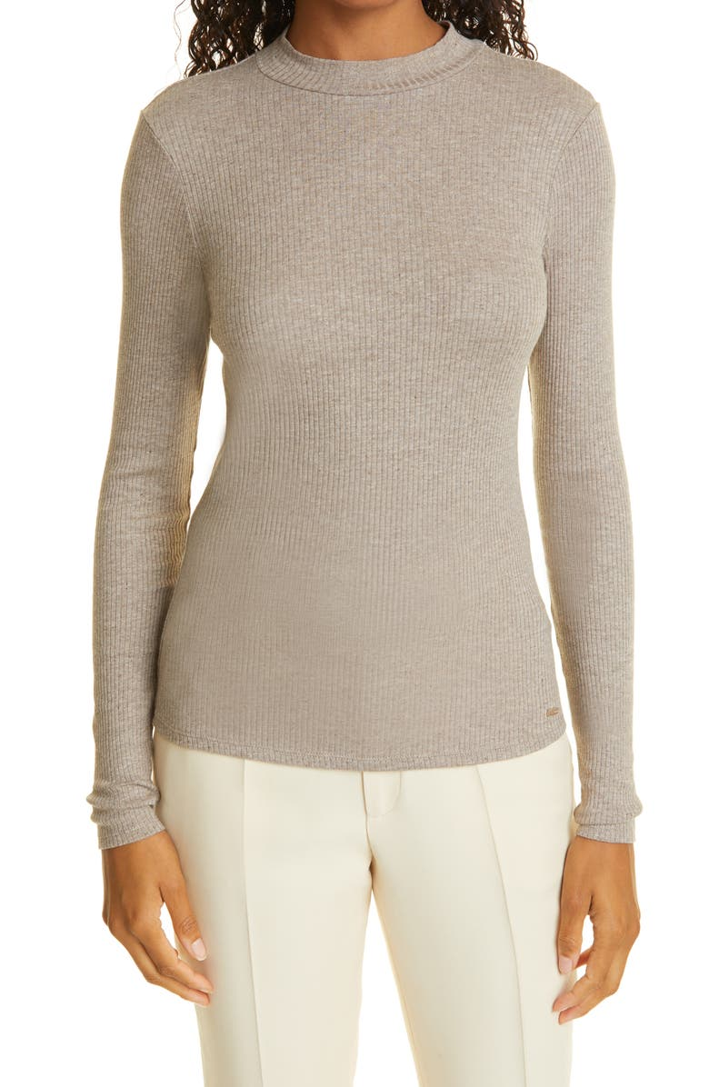 TED BAKER LONDON Ribbed Pullover, Main, color, LIGHT GREY