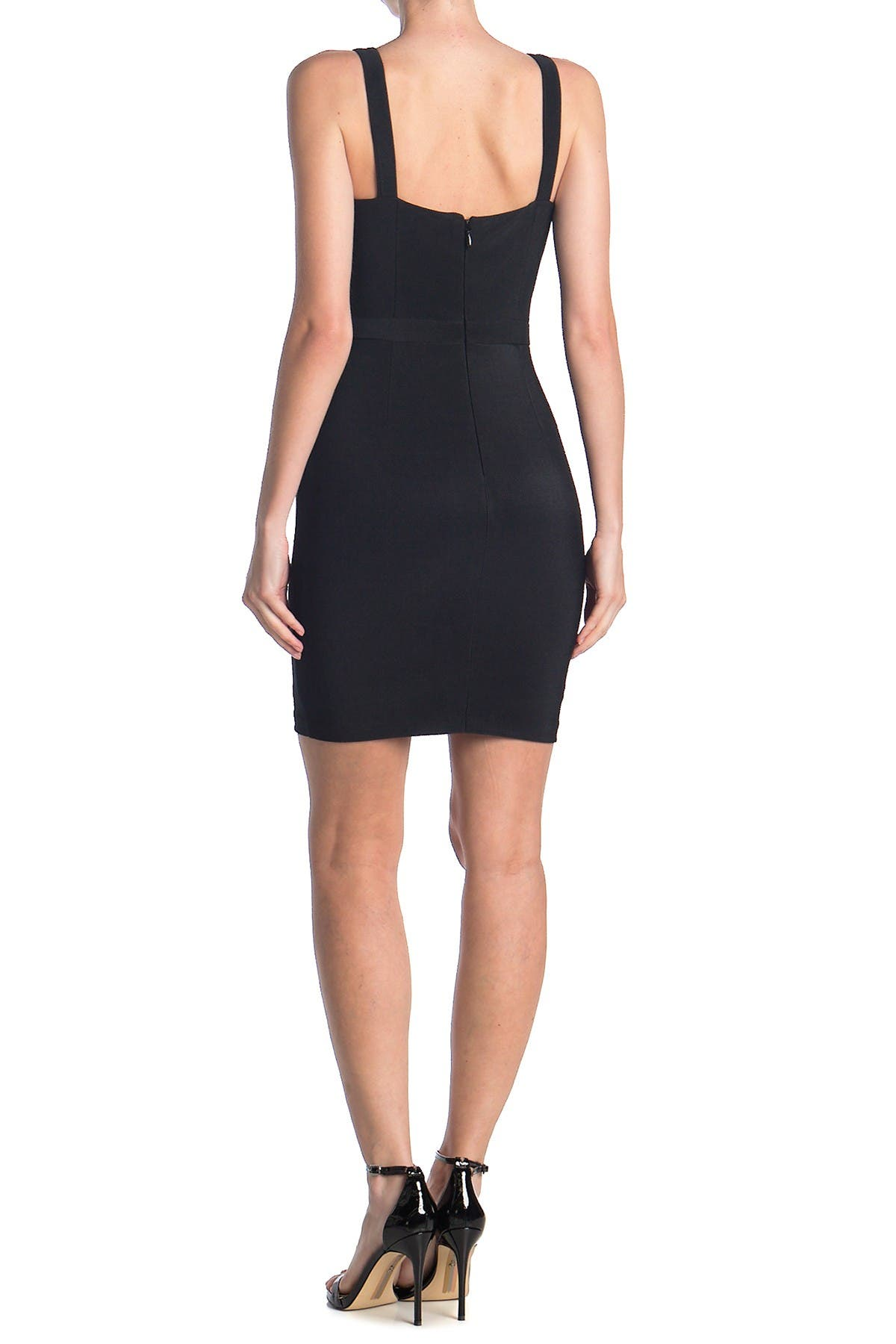 GUESS V-Neck Bandage Dress With Front Cutout