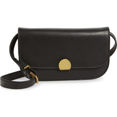 Madewell The Abroad Leather Convertible Crossbody Bag - Black
