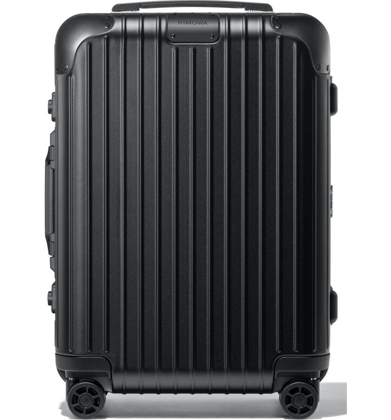 RIMOWA Hybrid Cabin Small 22-Inch Wheeled Carry-On, Main, color, MATTE ALL BLACK